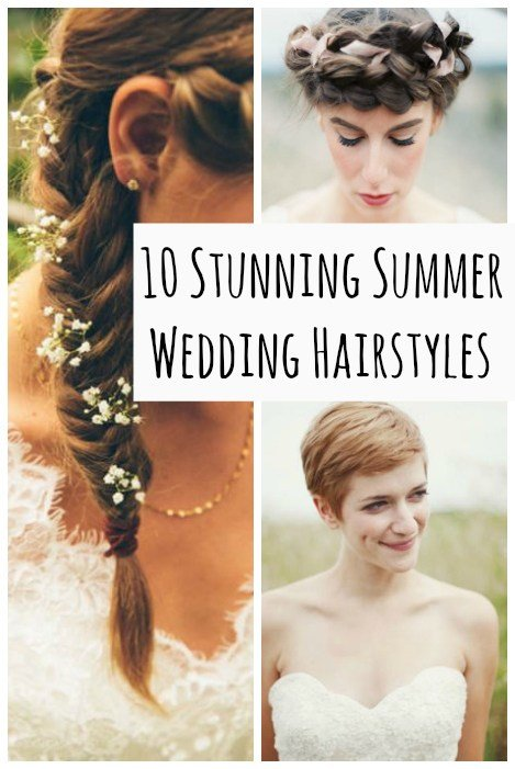 The Best 10 Summer Wedding Hairstyles Pictures