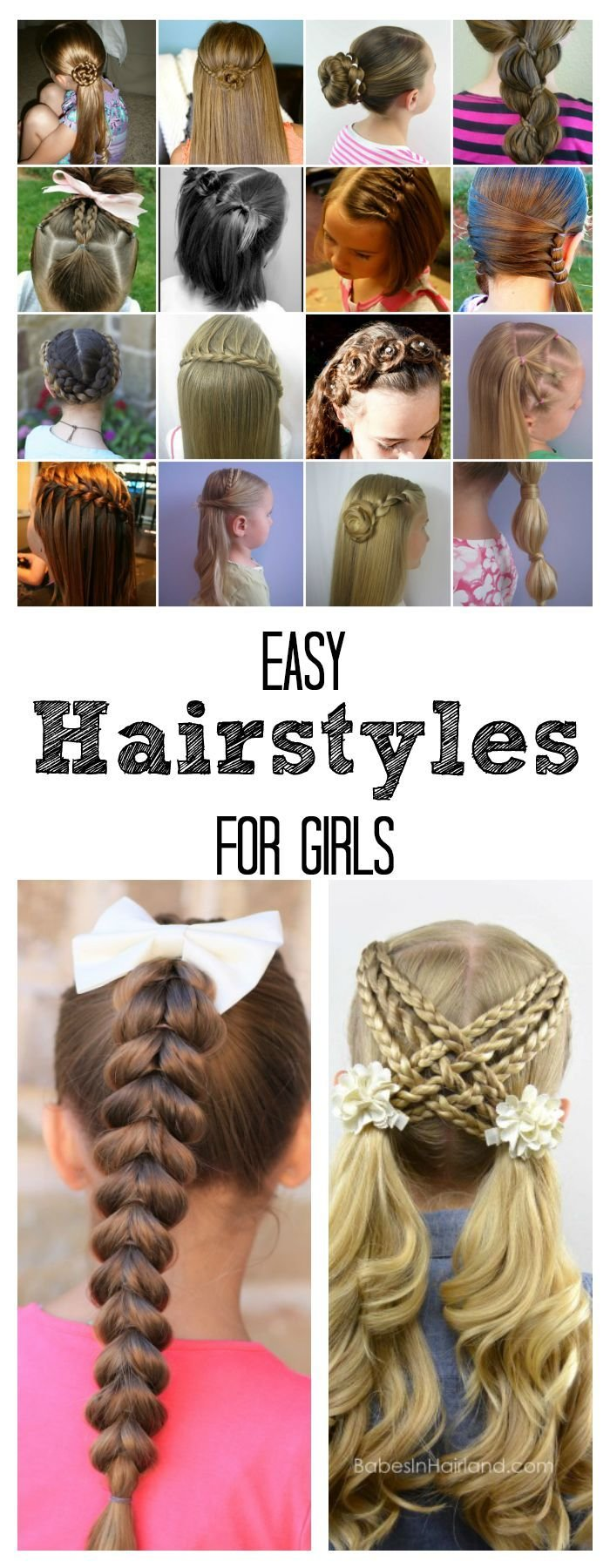 The Best Easy Hairstyles For Girls The Idea Room Pictures