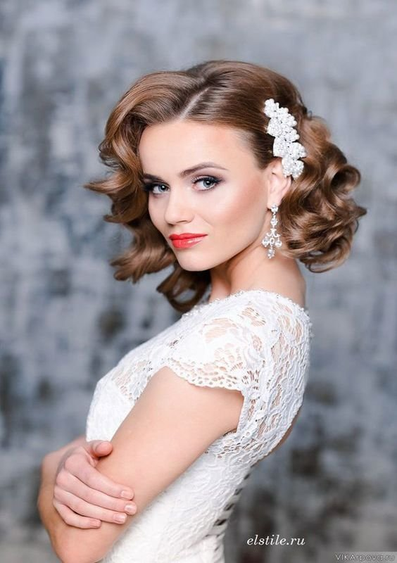 The Best Most Beautiful Wedding Hairstyle Ideas For Short Hair Pictures
