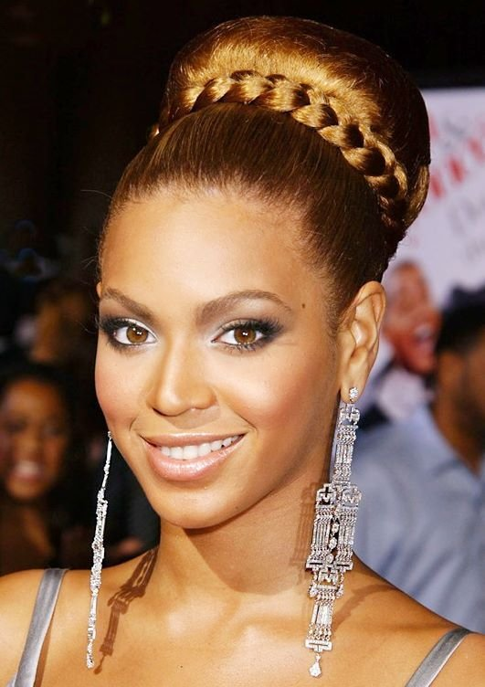 The Best Beyonce's Braided Bun Hairstyle Prom Wedding Formal Pictures