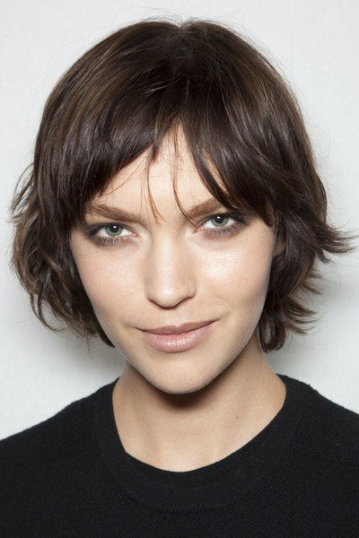 The Best Short Brunette Layered Hairstyle Casual Fall Everyday Pictures