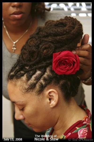 The Best How To Style Your Dreads On Your Wedding Day Offbeat Bride Pictures