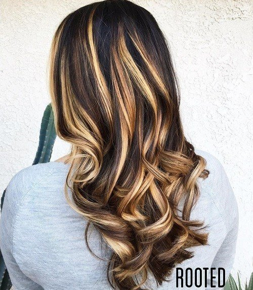 The Best 60 Hairstyles Featuring Dark Brown Hair With Highlights Pictures
