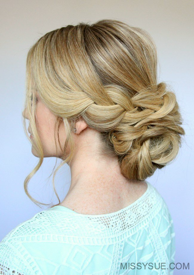 The Best Braid And Low Bun Updo Missy Sue Pictures