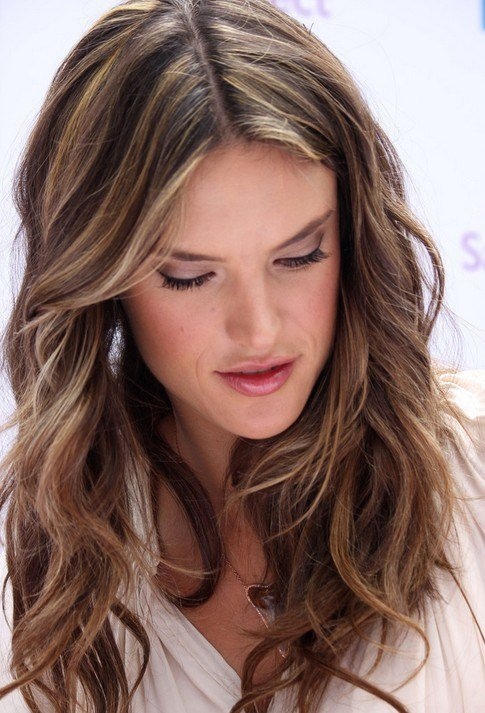 The Best Layered Light Brown Hairstyles Alessandra Ambrosio Hair Pictures