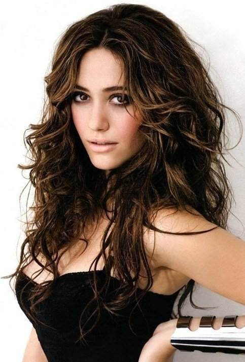 The Best Brown Messy Hairstyle For Long Hair Emmy Rossum S Hairstyles Popular Haircuts Pictures