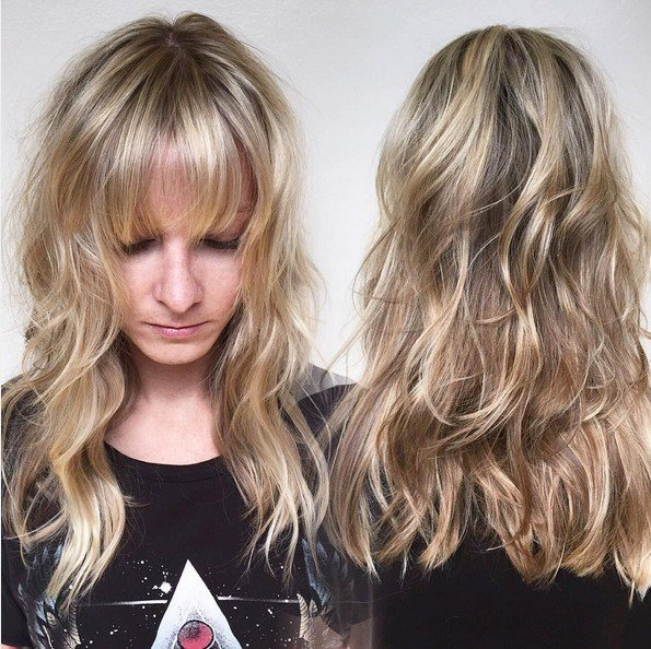 The Best 15 Hottest Medium Length Hairstyles With Bangs Popular Pictures
