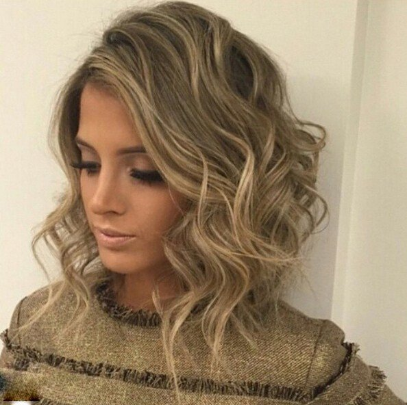 The Best Messy Curly Long Bob Hairstyle Popular Haircuts Pictures