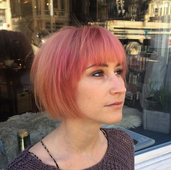 The Best 25 Stylish Bob Hairstyles With Bangs –Style Colour In Pictures