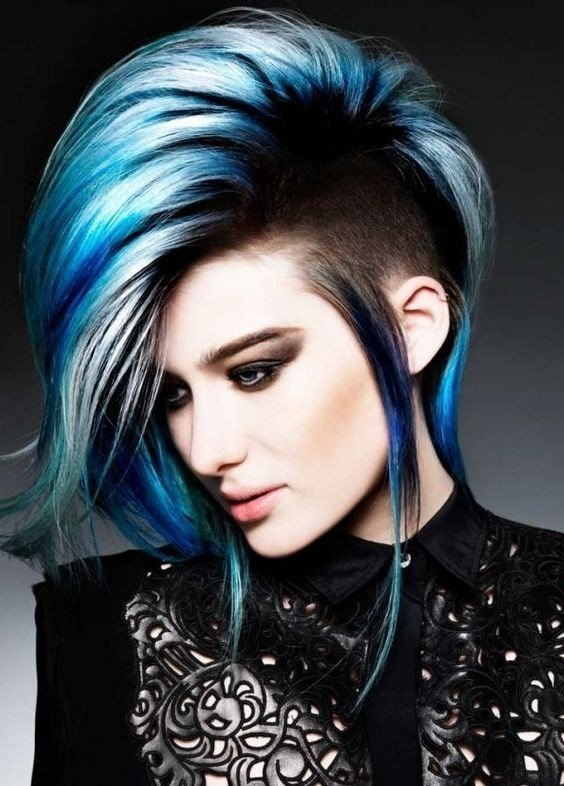 The Best 10 Intriguing Blue Hairstyles And Color Ideas 2019 Pictures