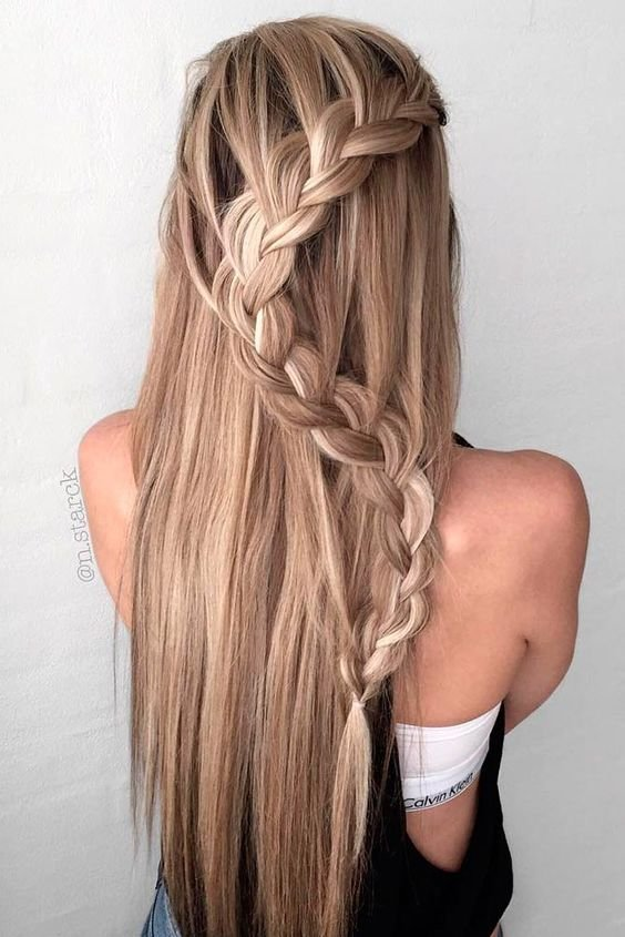 The Best 10 Easy Stylish Braided Hairstyles For Long Hair 2019 Pictures