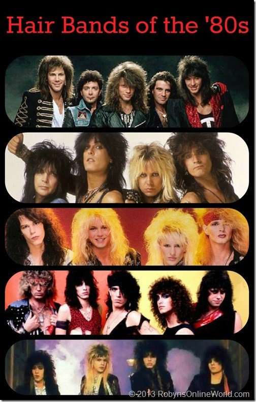 The Best Hair Bands Of The 80S Quiz For Throwback Thursday Robyns Pictures