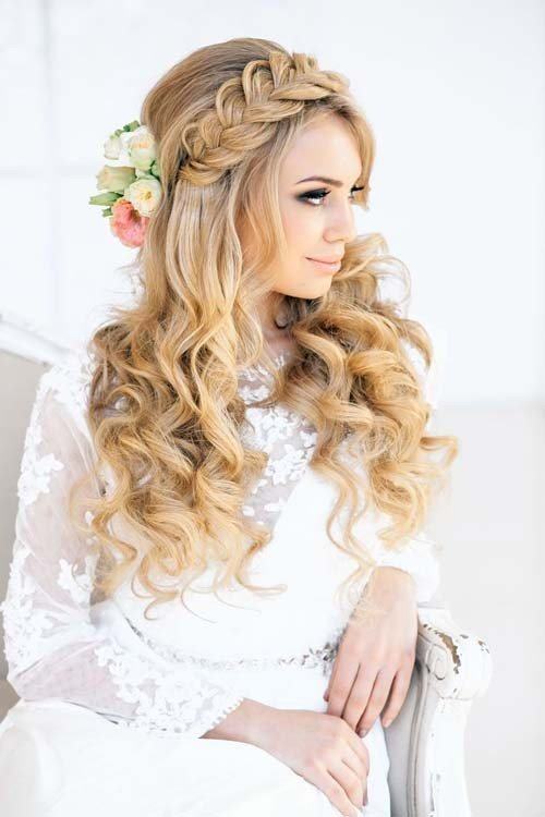 The Best 20 Wedding Hair Ideas With Flowers Modern Wedding Pictures