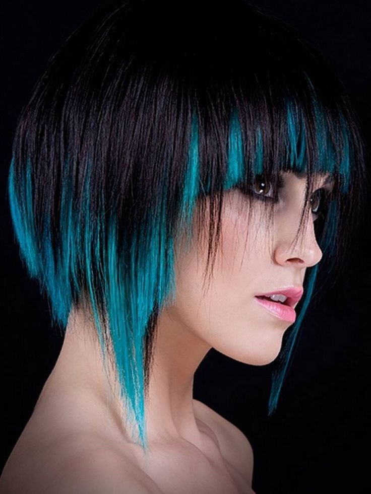 The Best Shaggy Funky And Cool Hair Color Ideas With Bangs For Pictures