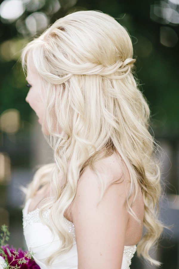 The Best 10 Glamorous Half Up Half Down Wedding Hairstyles From Pictures