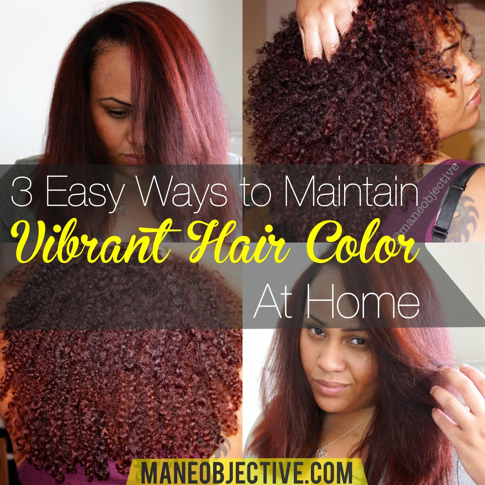 The Best The Mane Objective 3 Easy Ways To Maintain Vibrant Hair Color At Home Pictures
