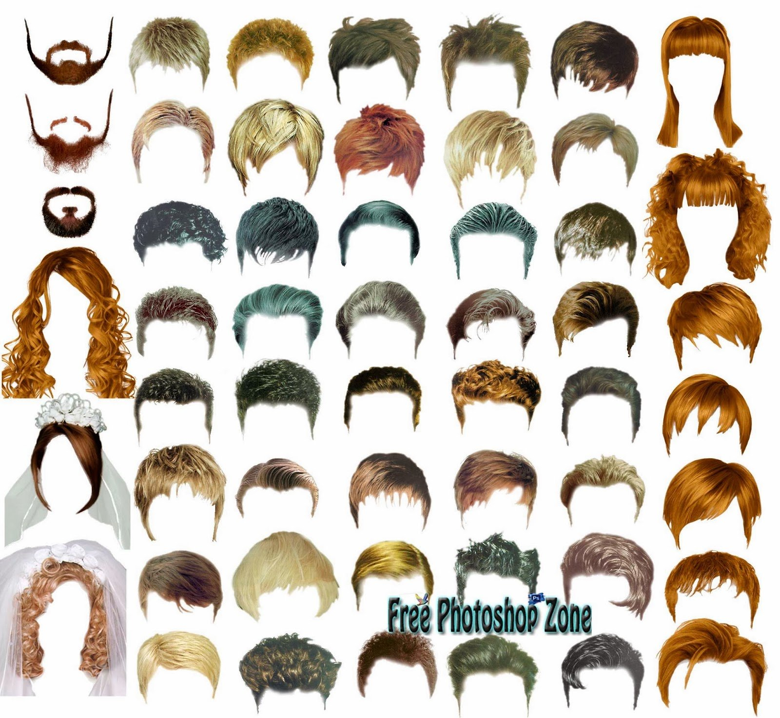 The Best Hair Styles Psd Template Free Photoshop Zone Pictures