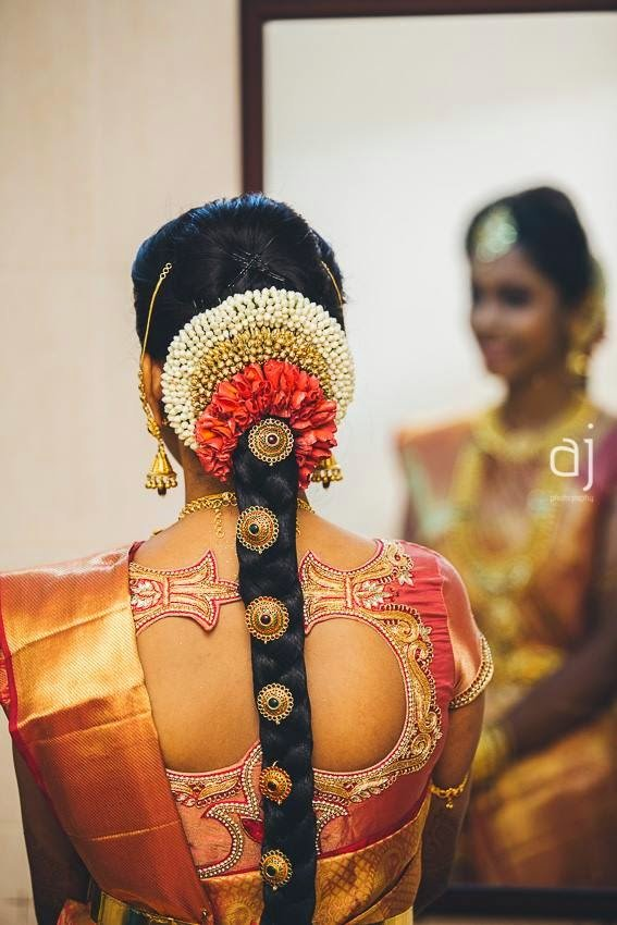 The Best Pelli Poola Jada Southindian Bridal Hairstyles With Flowers Pictures