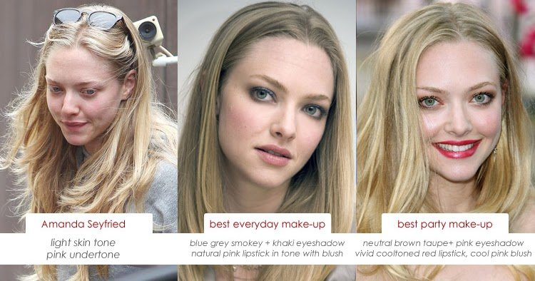 The Best Make Up Charts Amanda Seyfried And Her Skin S Pink Undertone Pictures