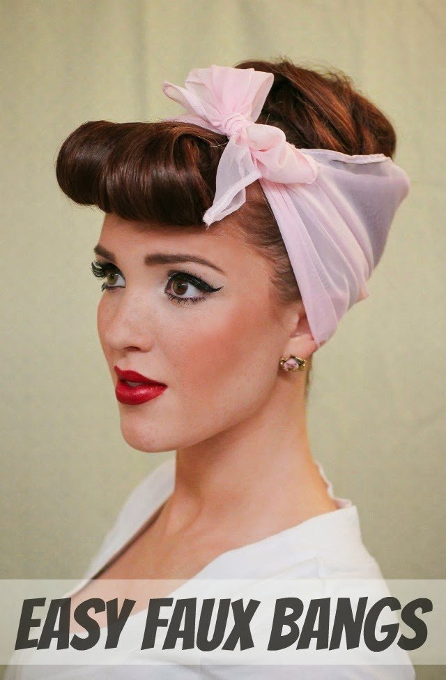 The Best The Freckled Fox Modern Pin Up Week 4 Easy Faux Bangs Pictures