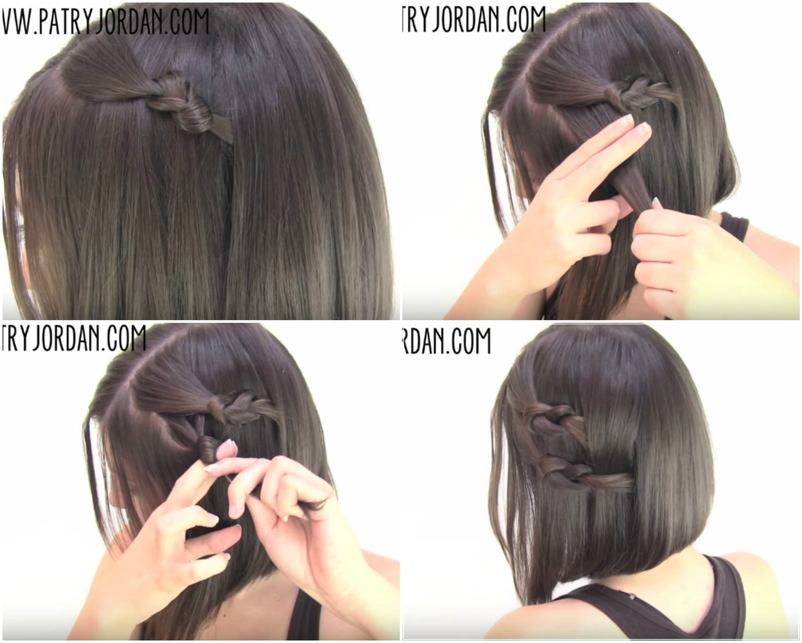The Best Video Hair Tutorial 4 Chic Sassy Easy Hairstyles For Short Hair That You Can Do In Not More Pictures