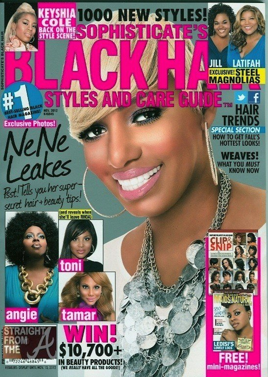 The Best Nene Leakes Shares Beauty Secrets In Sophisticate's Black Hair Magazine November 2012 Pictures