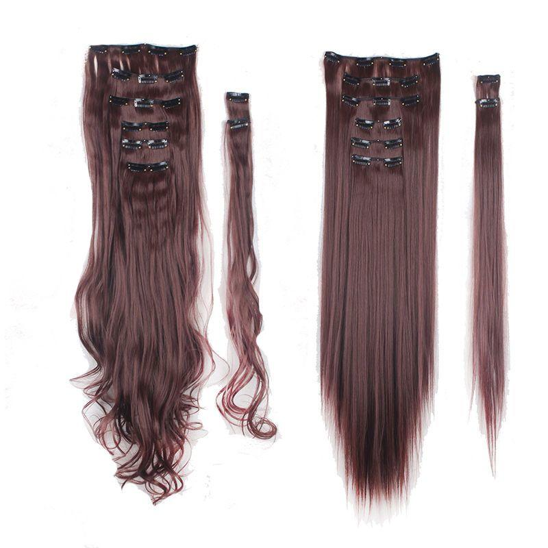 The Best 100 Real Natural As Human Hair 8Pcs Full Head Clip In Pictures