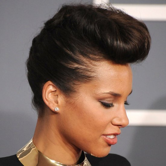 The Best Celebrity Hair Crush Alicia Keys Rocking The Pompadour Pictures