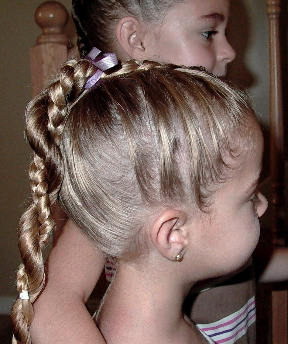 The Best Little Girl's Hairstyles French Braid Twist Around Pictures