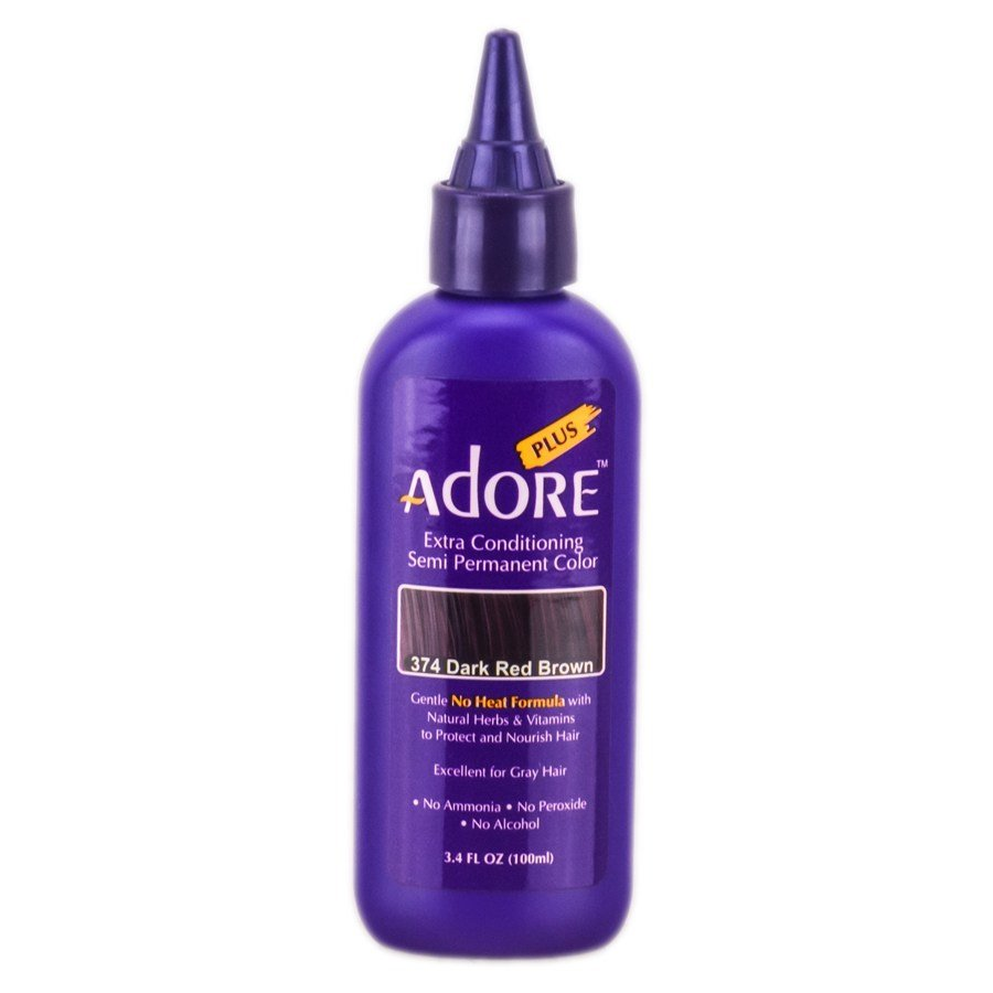The Best Adore Plus Semi Permanent Color 374 Dark Red Brown Adore Plus Semi Permanent Color Pictures