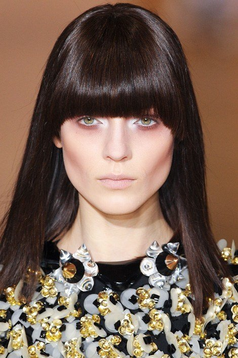 The Best Fall Hairstyles 2012 – Blunt Bangs Fashionandbeautyscene Pictures