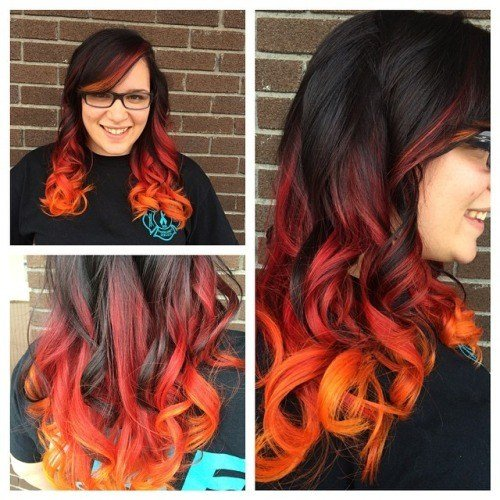The Best Brown To Orange Ombre Hair Colors Ideas Pictures