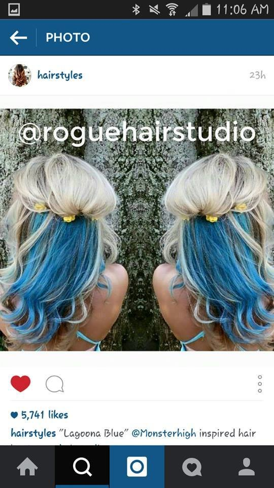 The Best Monster High Hair By Rogue Hair Studio In Blue And Blonde Pictures
