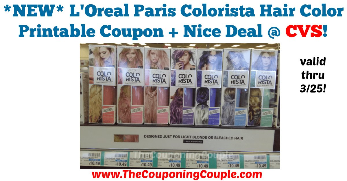 The Best New L Oreal Paris Colorista Hair Color Printable Coupon Pictures