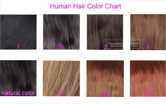 The Best Human Hair Color Chart For Lace Closure Hair Pieces Pictures