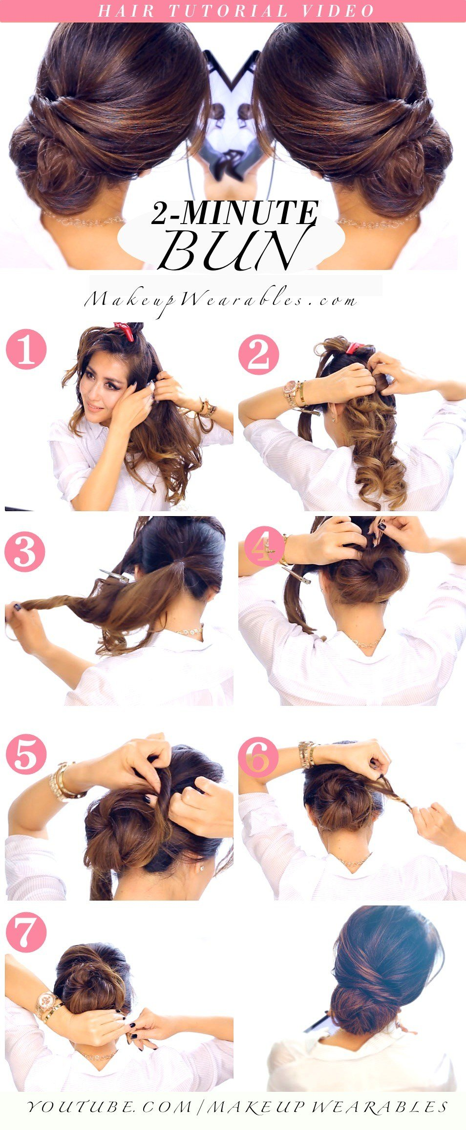 The Best Quick Easy Bun Hairstyle Tutorial Pictures