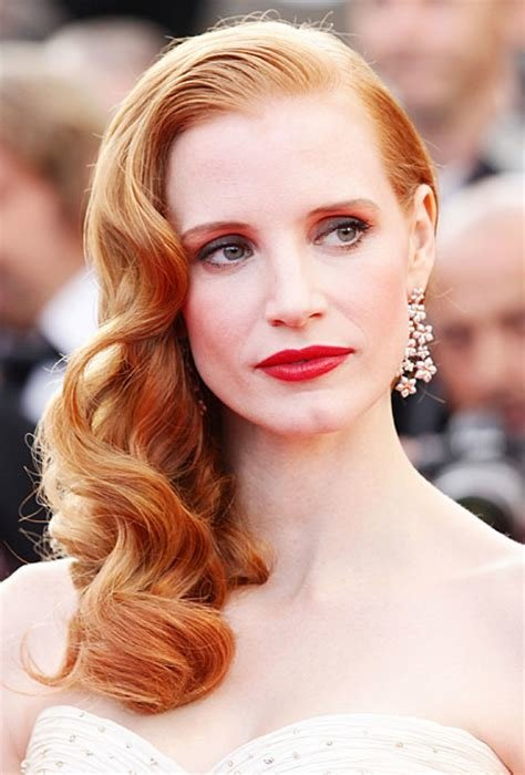 The Best Old Hollywood Inspired Wedding Hair Jessica Chastain S Pictures
