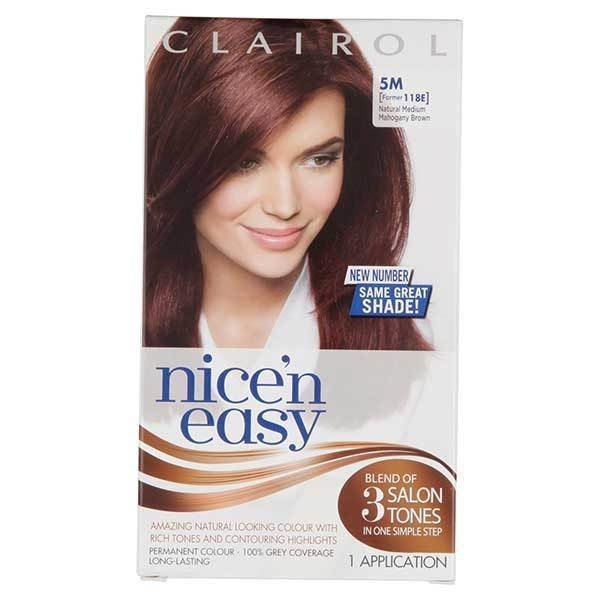 The Best Nice N Easy Permanent Hair Dye 5M Med Mahogany Brown 118E Pictures