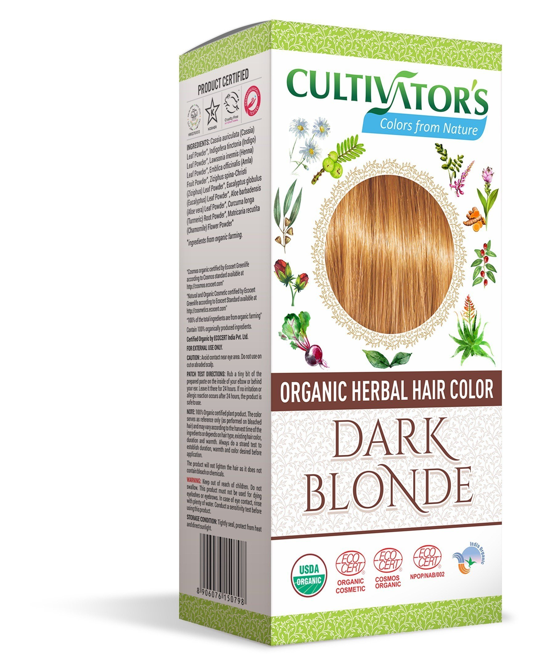 The Best Organic Herbal Hair Color Dark Blonde 100G Pictures