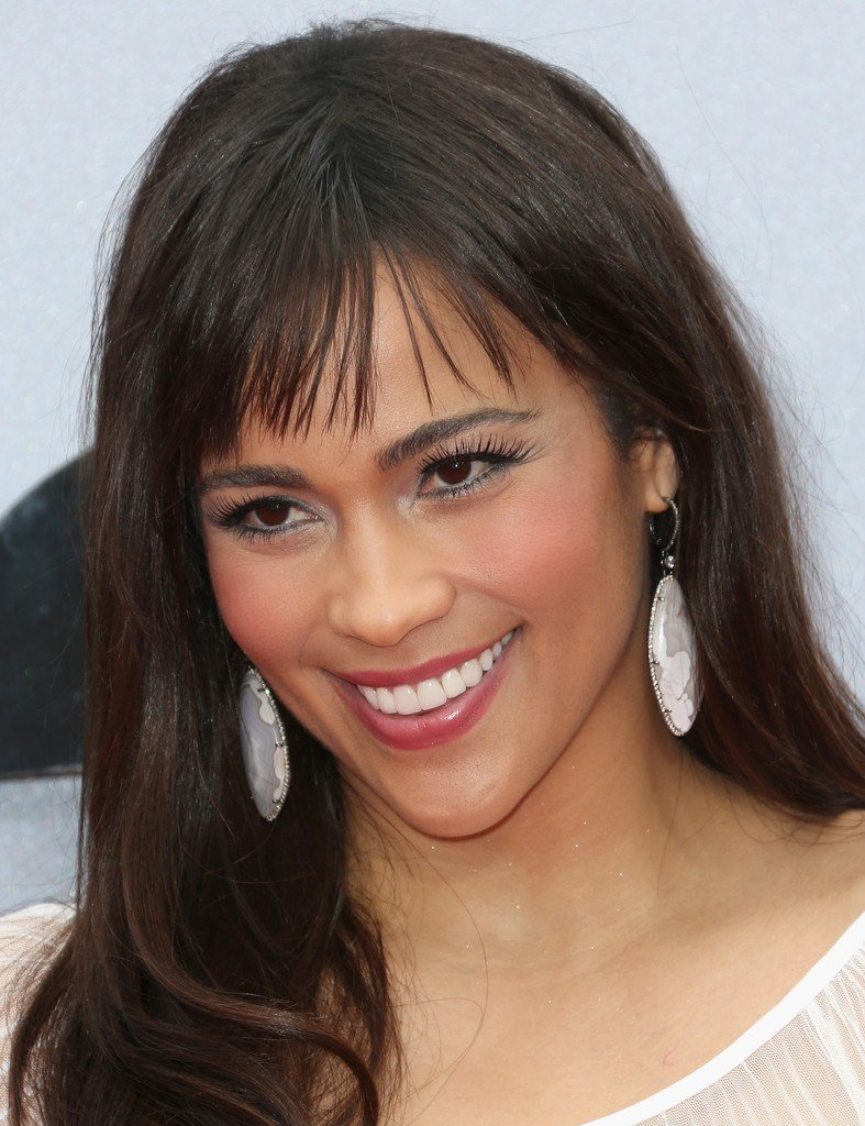 The Best Paula Patton Long Straight Cut With Bangs Long Straight Cut With Bangs Lookbook Stylebistro Pictures