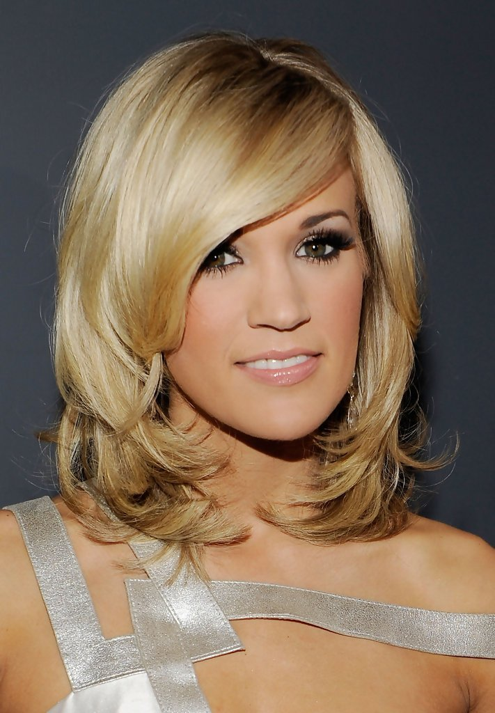 The Best Carrie Underwood Medium Layered Cut Carrie Underwood Pictures