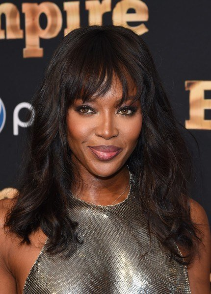 The Best Naomi Campbell Long Wavy Cut With Bangs Long Wavy Cut Pictures