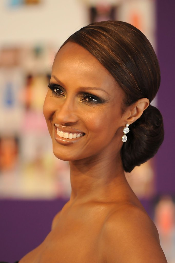 The Best Iman S Elegant Updo Haute Hairstyles For Women Over 50 Pictures