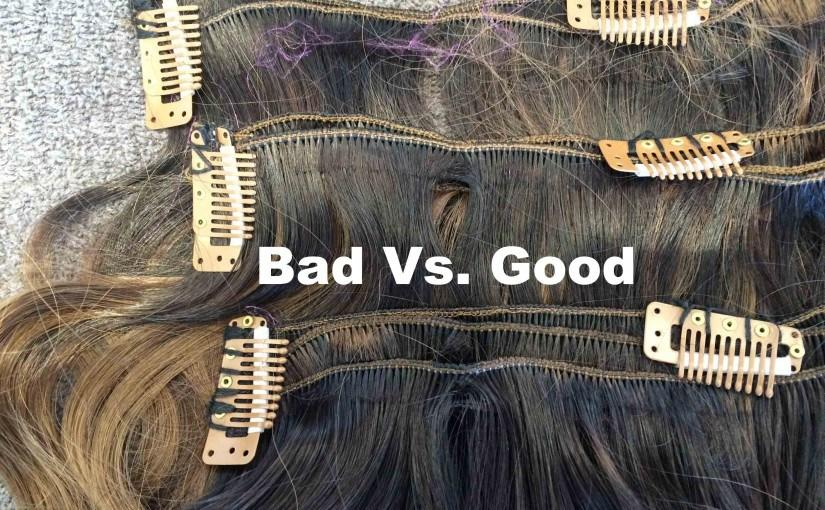 The Best Cashmere Hair Bad Clip Ins Vs Good Clip Ins Clip In Pictures