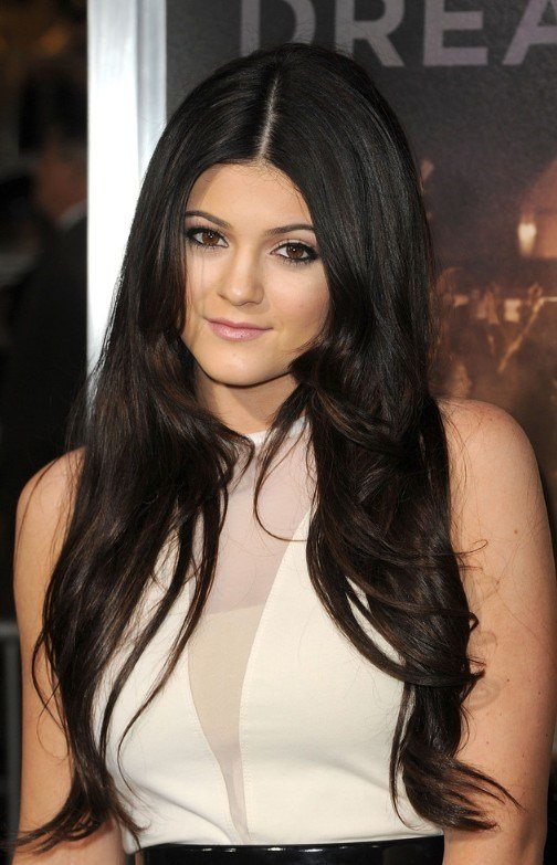 The Best Long Black Center Part Hairstyle Pictures