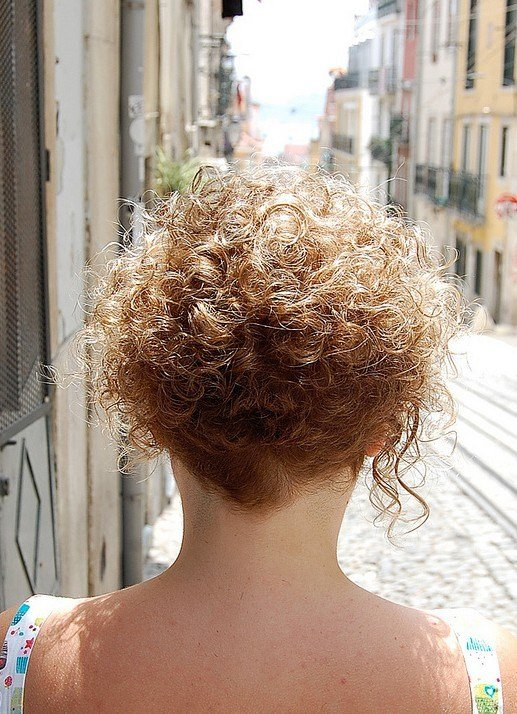 The Best Back View Of Short Curly Hairstyle Hairstyles Weekly Pictures