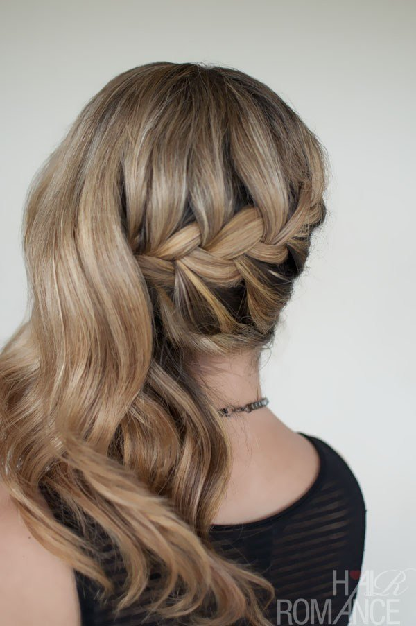 The Best Romantic Side Swept French Braid Holiday Hair Pictures