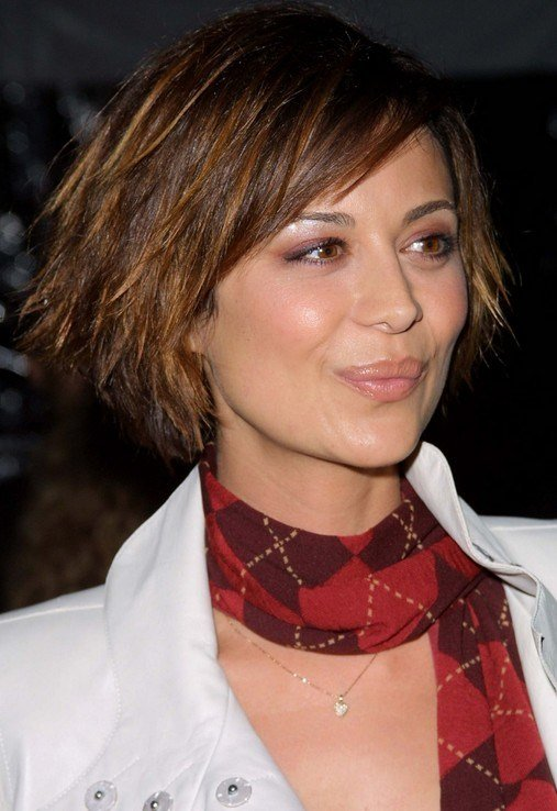 The Best Short Layered Funky Edgy Bob Haircut Catherine Bell S Pictures