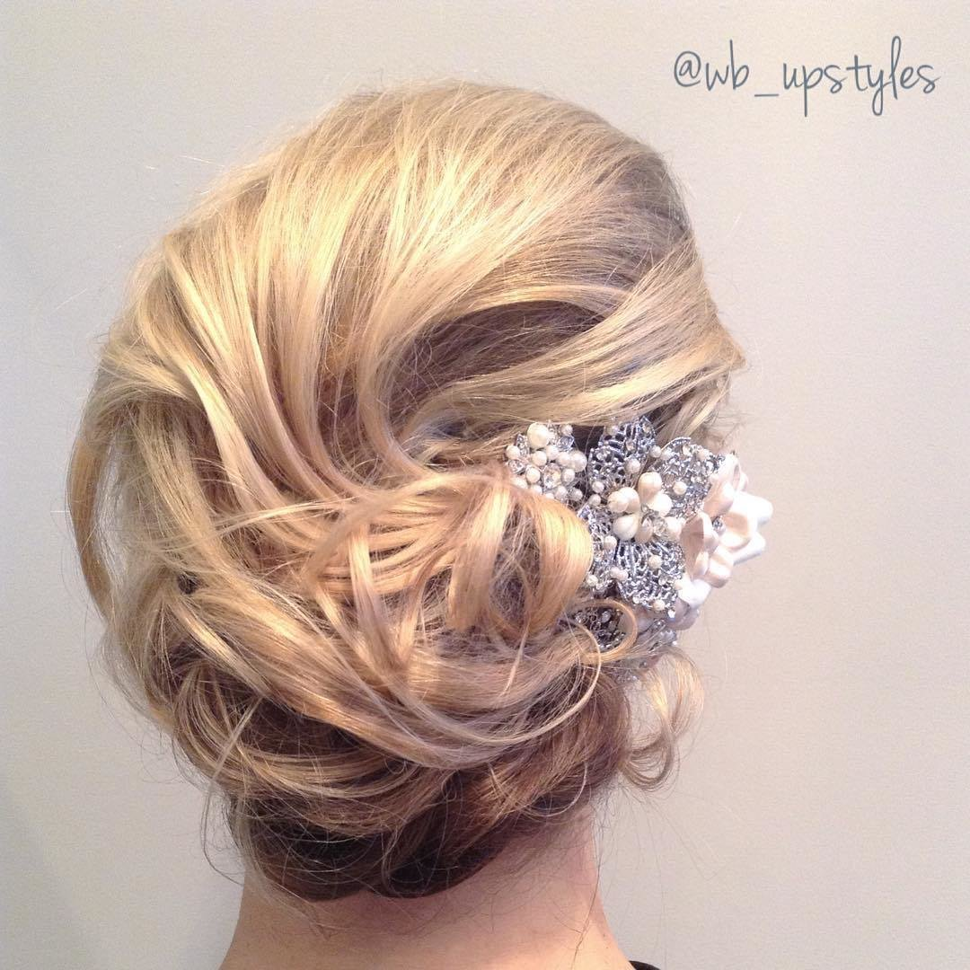 The Best 35 Romantic Wedding Updos For Medium Hair Wedding Pictures