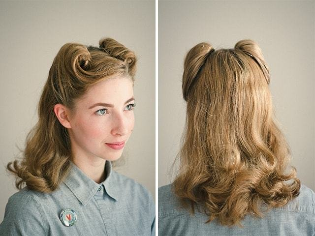 The Best 25 Vintage Victory Rolls From 1940 S Any Woman Can Copy Pictures